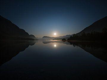 Mondaufgang am Bohinje See von Denis Feiner