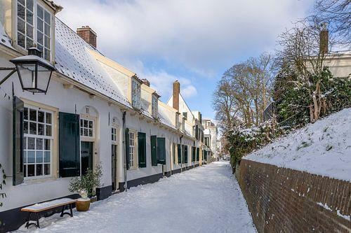 Bruntenhof in winsterse sfeer, Utrecht.