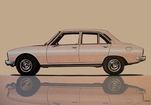 Peugeot 504 1968 Schilderij van Paul Meijering