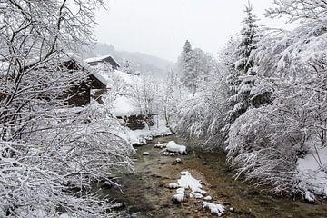 Bach dans un paysage d'hiver