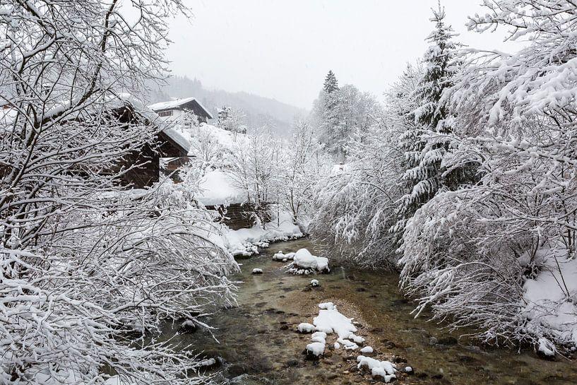 Bach dans un paysage d'hiver sur Frank Herrmann