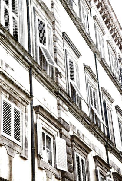 Lucca Italië Huisgevel van Hendrik-Jan Kornelis