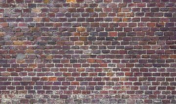 Baksteen oude muur Fotobehang 6 van Olivier Photography
