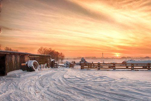 Zonsondergang Spaarndam van