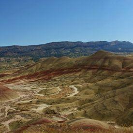 Painted Hills overlook, Oregon, USA van Jeroen van Deel