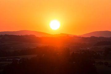 Sonnenuntergang im Mühlviertel von Rudolf Brandstätter