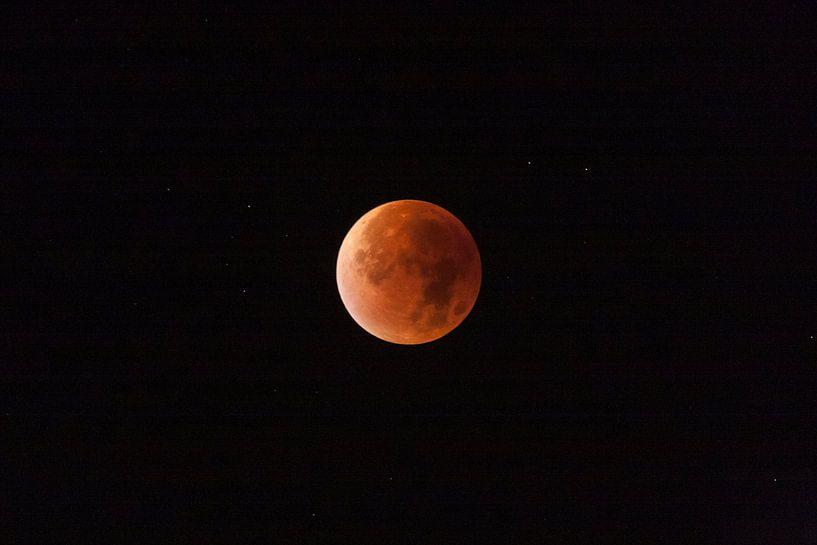 Rode supermaan maansverduistering van Roque Klop