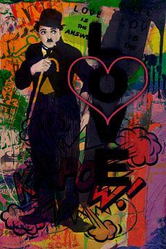 Motiv Charlie Chaplin - Love is the answer - Hommage von Felix von Altersheim
