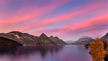 Abendrot am Vierwaldstättersee, Schweiz von Adelheid Smitt