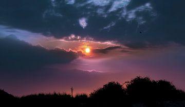 1114 Sonnenuntergang im Hafen von Adrien Hendrickx