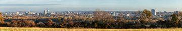 Skyline van Heerlen in herfstkleuren
