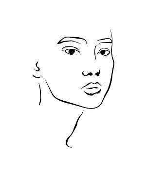 Portrait-Zeichnung von Anne Schutte