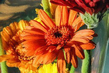 Digi gemalte Blumen 04 von Hans Levendig (lev&dig fotografie)