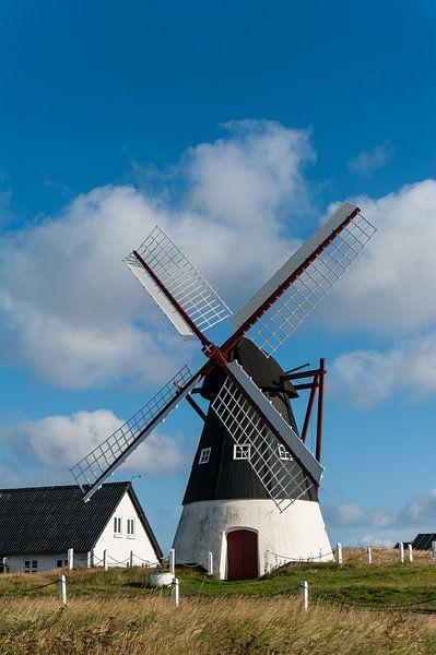 molen op het deense eiland Mandø  van Geertjan Plooijer