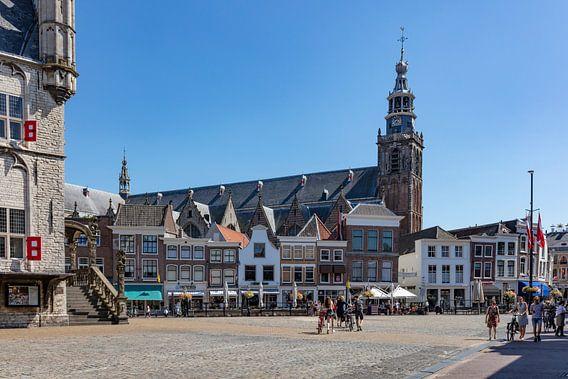 Stadhuis en Sint Jan in Gouda