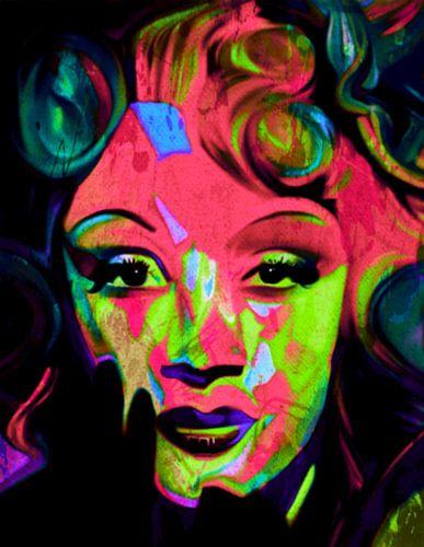 Marlene Dietrich Pop Art PUR