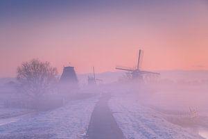 Hollands Polderlandschap tijdens de zonsopkomst van Original Mostert Photography