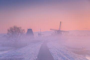 Niederländische Polderlandschaft bei Sonnenaufgang von Original Mostert Photography