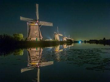 Lichtweek in Kinderdijk van Henk Goossens