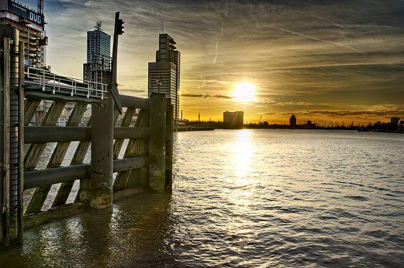 Zonsondergang over Nieuwe Maas