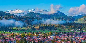 Oberstdorf, Allgäu Alps van