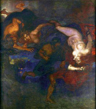 Franz von Stuck, Oreste e le Erinni - 1905 von Atelier Liesjes