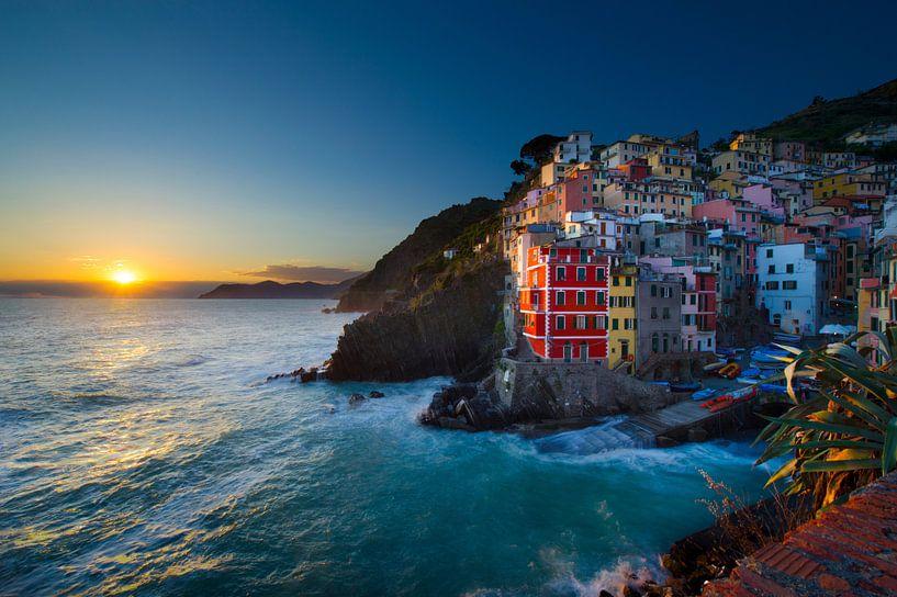 Riomaggiore, cinq terre, Italie van Vincent Xeridat