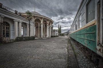 Auf einem verlassenen Bahnhof