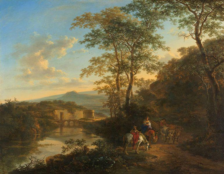 Italienische Landschaft mit der Ponte Molle, Jan Both, 1640 - 1652 von Marieke de Koning