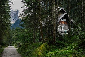 Jachthuis en Dachsteinmassief in Oostenrijk van Melissa Peltenburg
