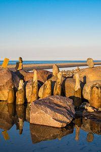 Buhnen an der Küste der Ostsee bei Kühlungsborn