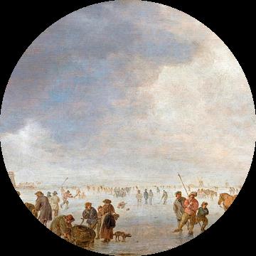 Winterscène op het ijs, Jan van Goyen