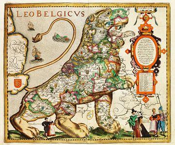 Hollandse of Vlaamse leeuw, 1621-1622 van Atelier Liesjes