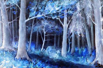 Blauer Wald von Christine Nöhmeier