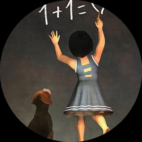 Kinderen Kunst: Amy leert Buddy wiskunde van Jan Keteleer