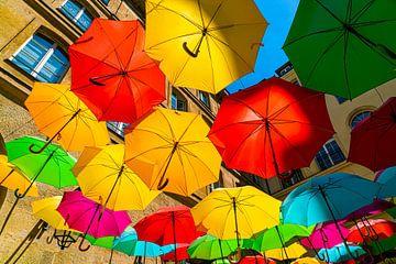 Gekleurde paraplu's van Ivo de Rooij