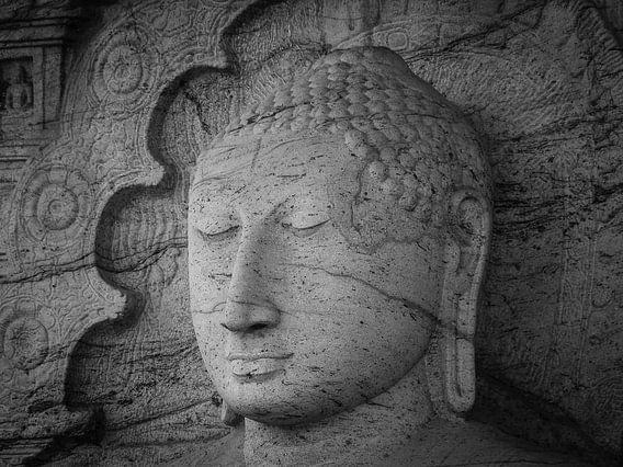 Seated Buddha statue in dhyana mudra pose at Gal Viharaya