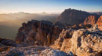 Alpen Panorama bij Zonsondergang van Frank Peters