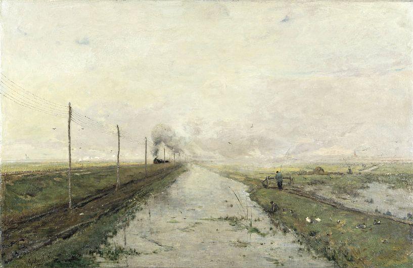 Landschaft mit einem Zug, Paul Joseph Constantin Gabriel von Meesterlijcke Meesters