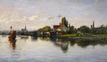 T C. Steele (Amerikaner, 1847-1926)~Dorf Schliersee, Hochland