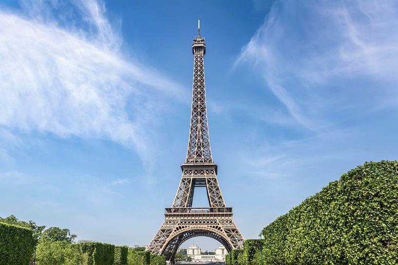PARIJS eiffeltoren en de Champ de Mars van Melanie Viola