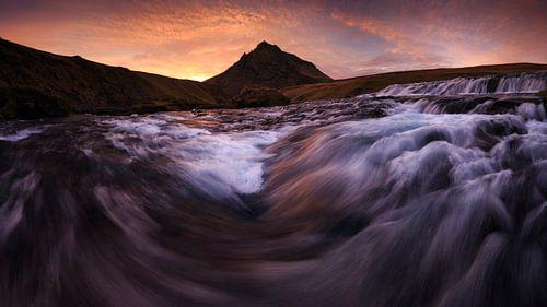 Skoga rivier, IJsland van