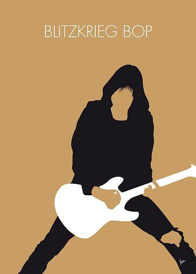 No020 MY RAMONES Minimal Music poster
