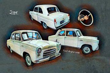 Ford Anglia 100E von JiPé digital artwork