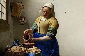Dienstmagd mit Milchkrug, Johannes Vermeer