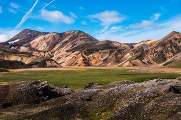 Landmannalaugar IJsland van Kevin Pluk