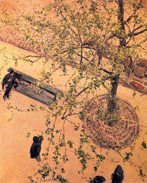 Boulevard Gesehen von Vor, öl von Gustave Caillebotte (1848-1894, France)