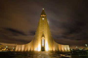 Hallgrímskirkja, Reykjavik von Hans Peter Debets