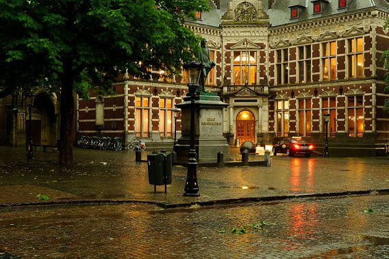 Het Academiegebouw op het Domplein in Utrecht
