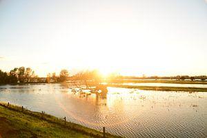Coucher de soleil dans les Pays-Bas